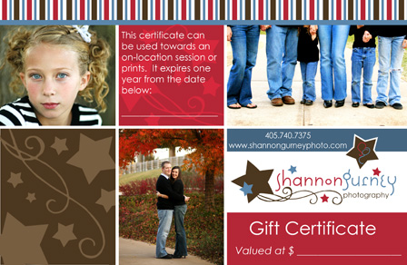 Gift certifiate shan blog pic